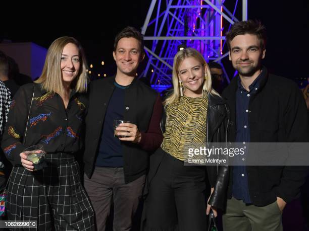 Sarah Schneider Chris Kelly Helene Yorke and Drew Tarver attend the Vulture Festival opening night party presented by ATT on November 16 2018 in Los...