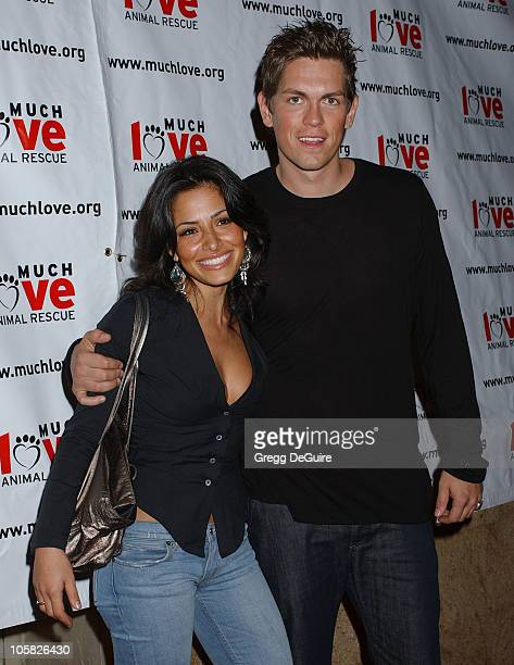 Sarah Shahi and Steve Howey during 3rd Annual Celebrity Comedy Benefit Helping Much Love Animal Rescue at Laugh Factory in Hollywood California...