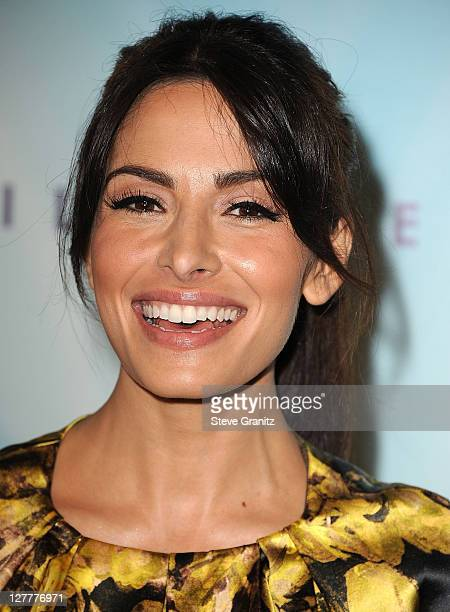Sarah Shahi arrive at the The 2011 Crystal Lucy Awards at The Beverly Hilton hotel on June 16 2011 in Beverly Hills California