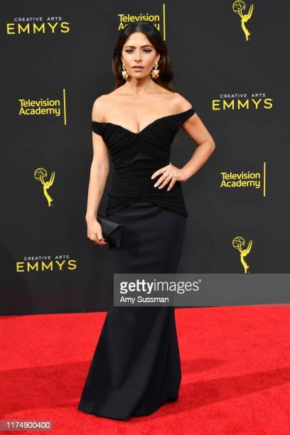 Sarah Shahi attends the 2019 Creative Arts Emmy Awards on September 15 2019 in Los Angeles California