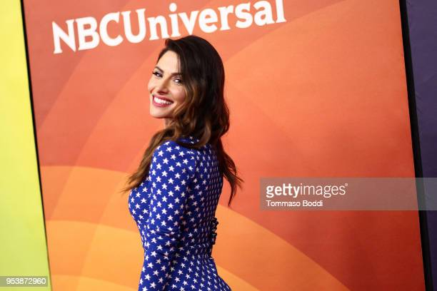 Sarah Shahi attends the NBCUniversal Summer Press Day 2018 at Universal Studios Backlot on May 2 2018 in Universal City California