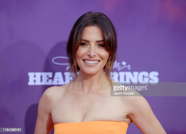 Sarah Shahi attends the Netflix Premiere of Dolly Parton's Heartstrings on October 29 2019 in Pigeon Forge Tennessee