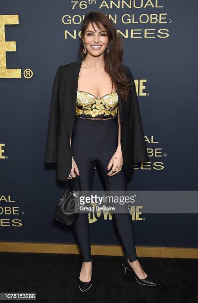 Sarah Shahi attends the Showtime Golden Globe Nominees Celebration at Sunset Tower Hotel on January 5 2019 in West Hollywood California