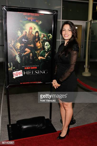 Sarah Shahi attends the Stan Helsing Los Angeles Premiere at ArcLight Cinemas on October 20 2009 in Hollywood California