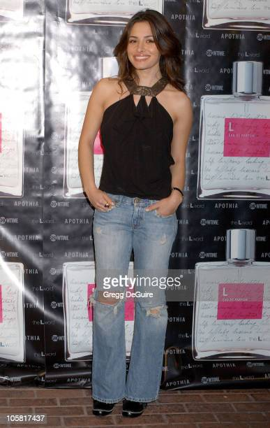Sarah Shahi during Launch of L Eau de Parfum Inspired by Showtime's The L Word Arrivals at Apothia at Fred Segal Melrose in Los Angeles California...