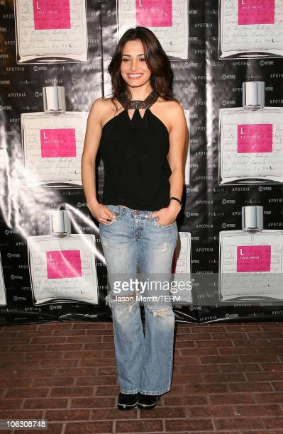 Sarah Shahi during Launch Of L eau de parfum Inspired by the TV Show The L Word Arrivals at Apothia at Fred Segal Melrose in West Hollywood...