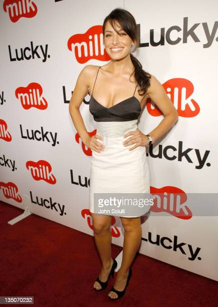 Sarah Shahi during Lucky Magazine Hosts Party to Celebrate LA Shopping Guide at Milk Boutique at Milk Boutique in Los Angeles California United States