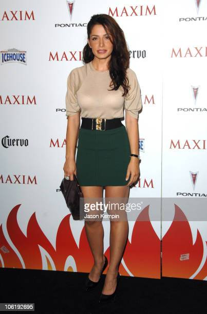 Sarah Shahi during Maxim's 8th Annual Hot 100 Party Arrivals at The Gansevoort Hotel in New York City New York United States