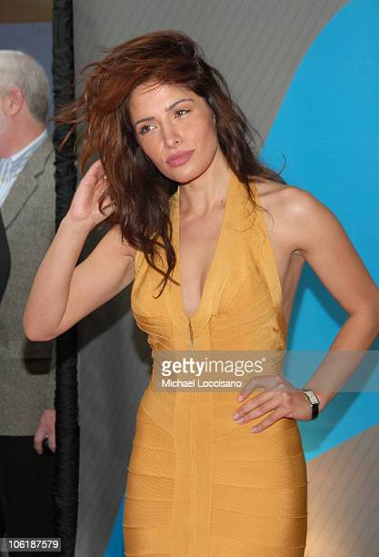 Sarah Shahi during NBC 20072008 Primetime Preview Red Carpeti Upfronts Arrivals at Radio City Music Hall in New York City New York United States