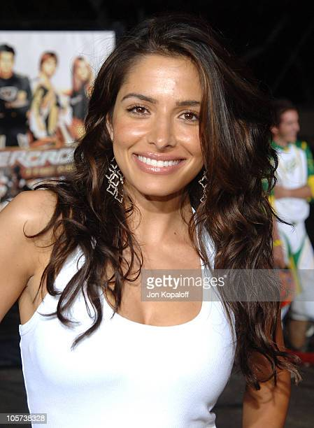 Sarah Shahi during Supercross Los Angeles Premiere Arrivals at Veterans Administration Complex in Westwood California United States