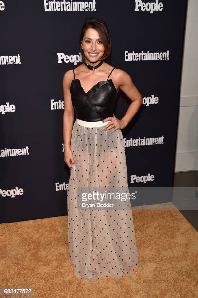 Sarah Shahi of Reverie attends the Entertainment Weekly and PEOPLE Upfronts party presented by Netflix and Terra Chips at Second Floor on May 15 2017...