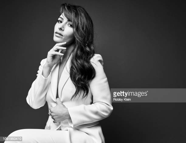 Sarah Shahi of Showtime's 'City On A Hill' poses for a portrait during the 2019 Winter TCA at The Langham Huntington Pasadena on January 31 2019 in...