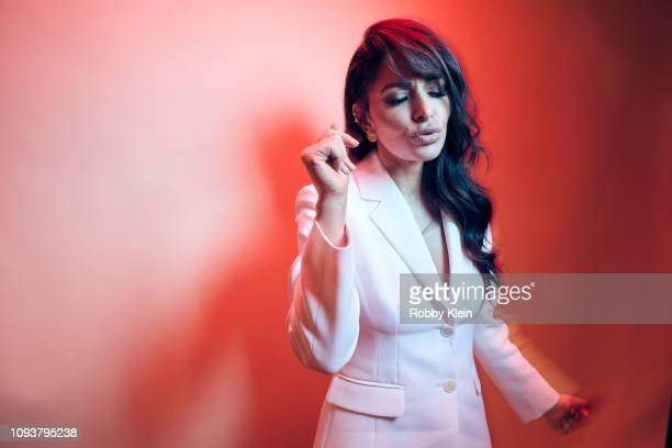 Sarah Shahi of Showtime's 'City On A Hill' poses for a portrait during the 2019 Winter TCA Portrait Studio at The Langham Huntington Pasadena on...