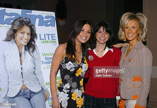Sarah Shahi of The L Word Cathy Areu publisher of Catalina Magazine and Cristina Perez