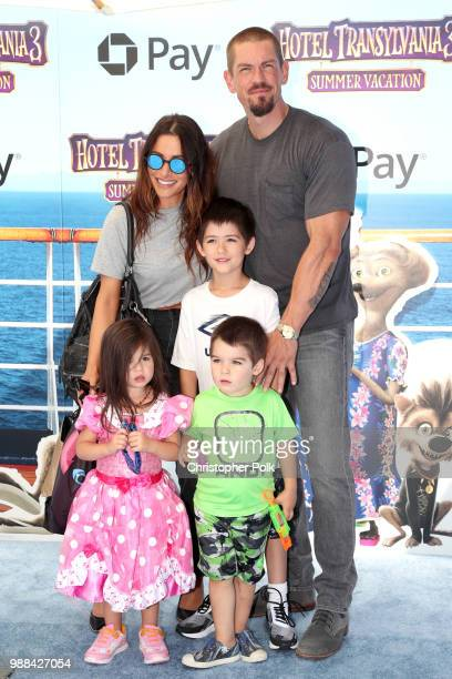 Sarah Shahi Steve Howey Violet Moon Howey William Wolf Howey and Knox Blue Howey attend the Columbia Pictures and Sony Pictures Animation's world...