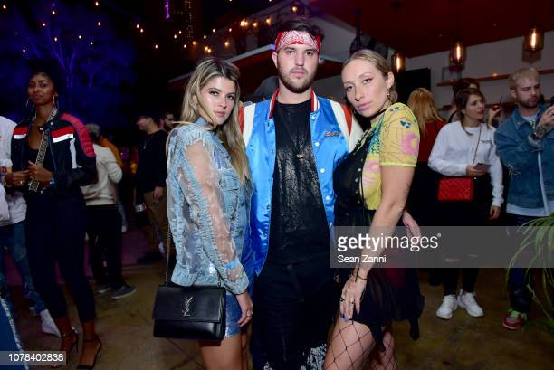 Sarah Shatz Andrew Warren Gaia Jacquet Matisse attends 'Diesel x Boiler Room Another Basel Event' at 1306 Miami on December 06 2018 in Miami Florida