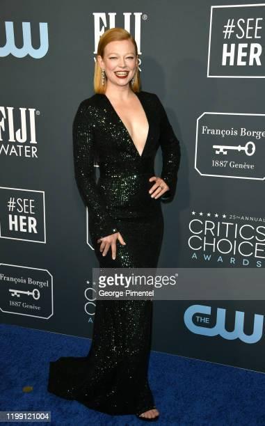 Sarah Shook attends the 25th Annual Critics' Choice Awards held at Barker Hangar on January 12 2020 in Santa Monica California