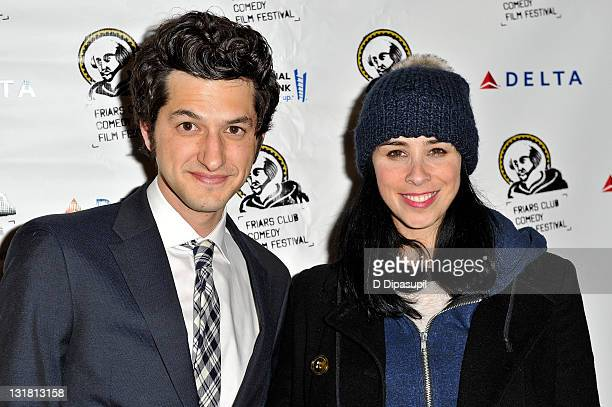 """Sarah Silverman and Ben Schwartz attend a screening of """"Peep World"""" at the New York Friars Club on March 11, 2011 in New York City."""