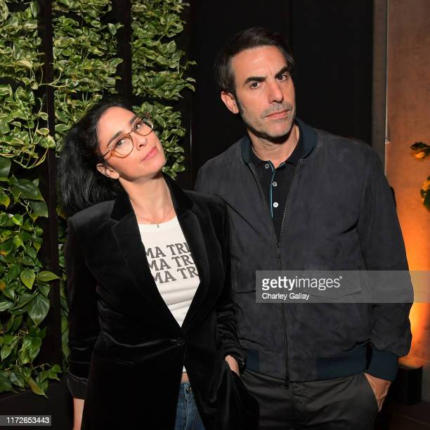 """Sarah Silverman and Sacha Baron Cohen attend """"The Spy"""" screening and reception at Netflix Home Theater on September 05, 2019 in Los Angeles,..."""
