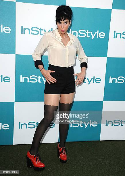 Sarah Silverman arrive at the 10th Annual InStyle Summer Soiree at The London Hotel on August 10 2011 in West Hollywood California