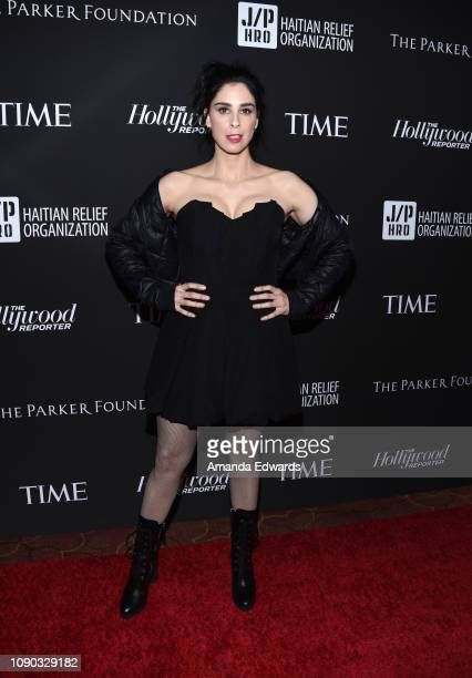 Sarah Silverman arrives at the Sean Penn J/P HRO Gala benefiting the J/P Haitian Relief Organization and a coalition of disaster relief organizations...