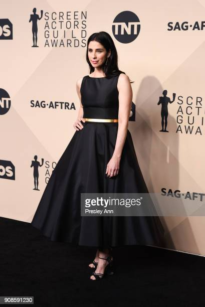 Sarah Silverman attends 24th Annual Screen Actors Guild Awards - Press Room on January 21, 2018 in Los Angeles, California.