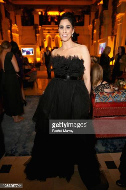 Sarah Silverman attends Hulu's 2018 Emmy Party at Nomad Hotel Los Angeles on September 17 2018 in Los Angeles California