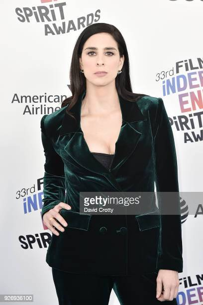 Sarah Silverman attends the 2018 Film Independent Spirit Awards Arrivals on March 3 2018 in Santa Monica California
