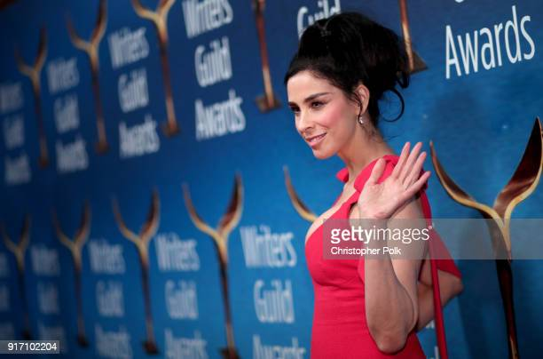 Sarah Silverman attends the 2018 Writers Guild Awards LA Ceremony at The Beverly Hilton Hotel on February 11 2018 in Beverly Hills California