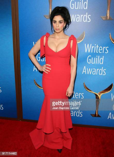 Sarah Silverman attends the 2018 Writers Guild Awards LA Ceremony on February 11 2018 in Beverly Hills California