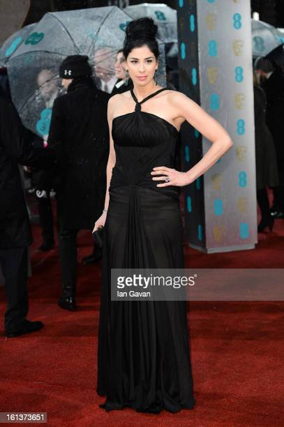 Sarah Silverman attends the EE British Academy Film Awards at The Royal Opera House on February 10 2013 in London England