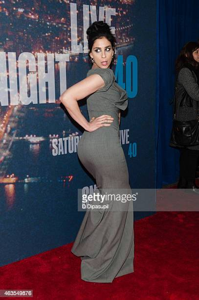 Sarah Silverman attends the SNL 40th Anniversary Celebration at Rockefeller Plaza on February 15, 2015 in New York City.