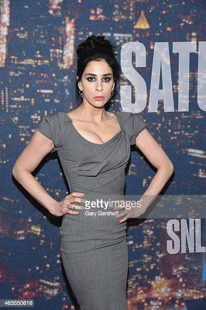 Sarah Silverman attends the SNL 40th Anniversary Celebration at Rockefeller Plaza on February 15 2015 in New York City
