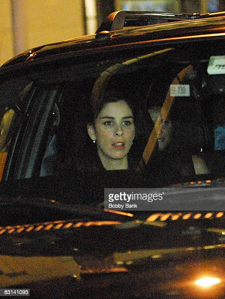 Sarah Silverman attends the wedding of Howard Stern and Beth Ostrosky at Le Cirque on October 3 2008 in New York City