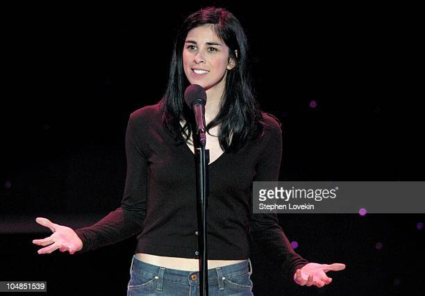 Sarah Silverman during Comedy Tonight A Night of Comedy to Benefit the 92nd Street Y at The 92nd Street Y in New York City NY United States