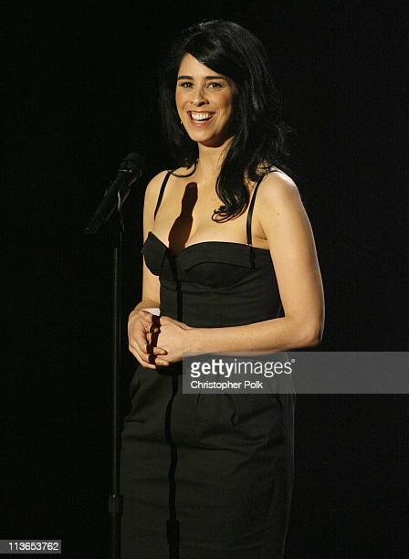 Sarah Silverman, host during 2007 MTV Movie Awards - Show at Gibson Amphitheater in Los Angeles, California, United States.