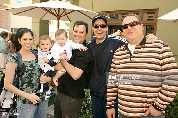 Sarah Silverman Jimmy Kimmel Adam Carolla with twins and Jeff Garlin