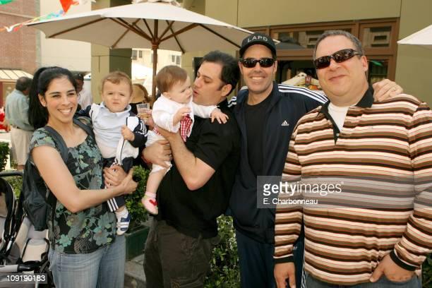 Sarah Silverman, Jimmy Kimmel, Adam Carolla with twins, and Jeff Garlin
