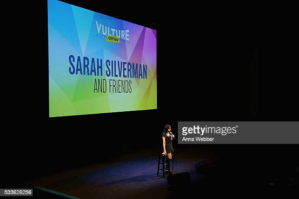Sarah Silverman performs onstage during Vulture Festival presents Sarah Silverman Friends at BAM on May 22 2016 in New York City