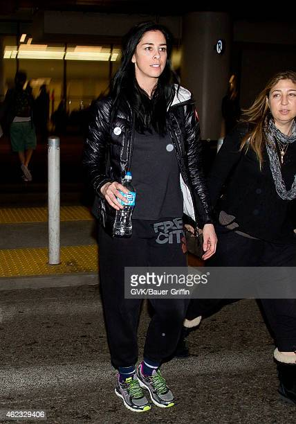 Sarah Silverman seen at LAX on January 26 2015 in Los Angeles California