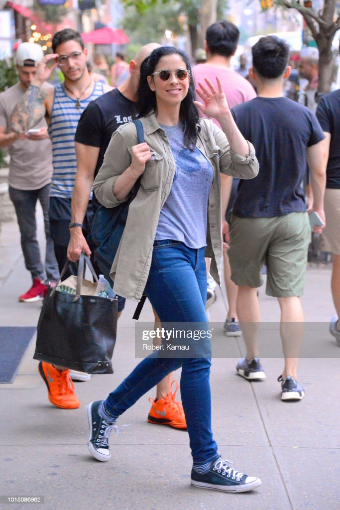 Sarah Silverman seen out and about in Manhattan on August 10, 2018 in New York City.
