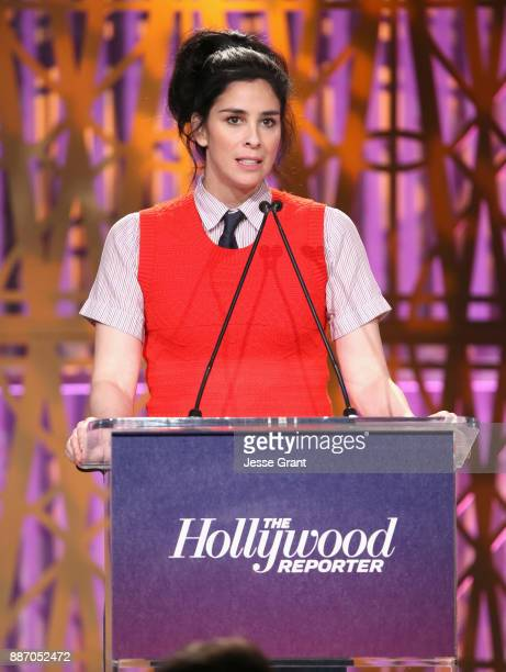 Sarah Silverman speaks onstage at The Hollywood Reporter's 2017 Women In Entertainment Breakfast at Milk Studios on December 6 2017 in Los Angeles...