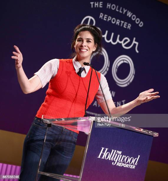 Sarah Silverman speaks onstage during The Hollywood Reporter's 2017 Women In Entertainment Breakfast at Milk Studios on December 6 2017 in Los...