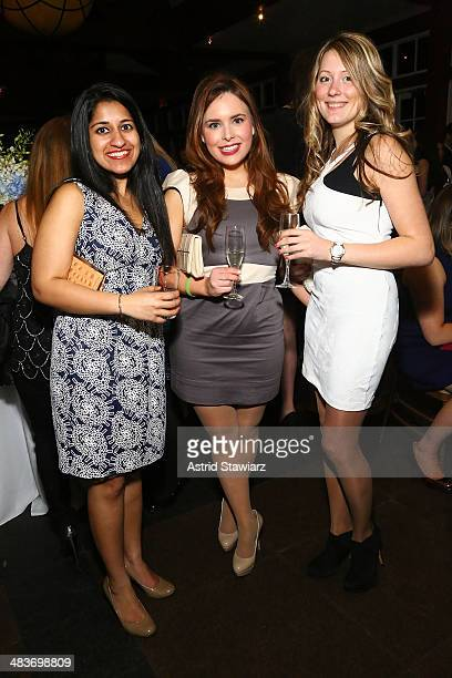 Sarah Simon Hillary Mazanec and Uliana Rymar attend Swing Into Spring event on April 9 2014 in New York United States