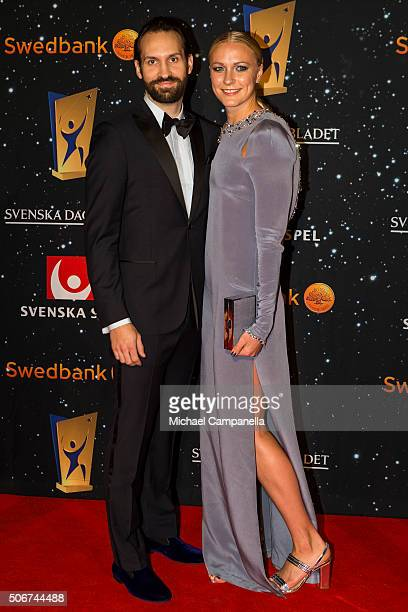 Sarah Sjostrom attends the Swedish Sports Gala at the Ericsson Globe on January 25, 2016 in Stockholm, Sweden.