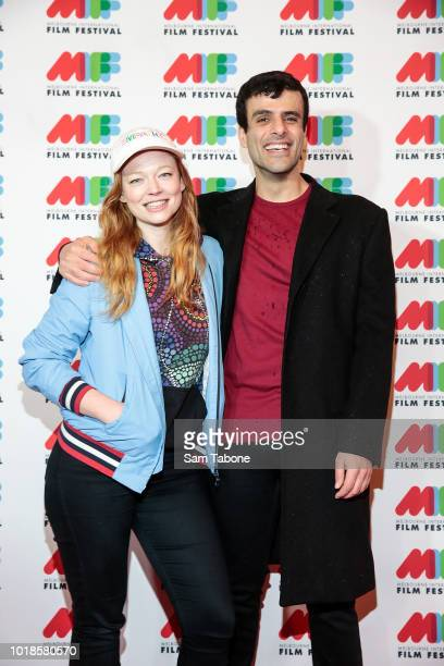 Sarah Snook and Faysell Bazzi arrives at the Melbourne International Film Festival Closing Gala on August 18 2018 in Melbourne Australia