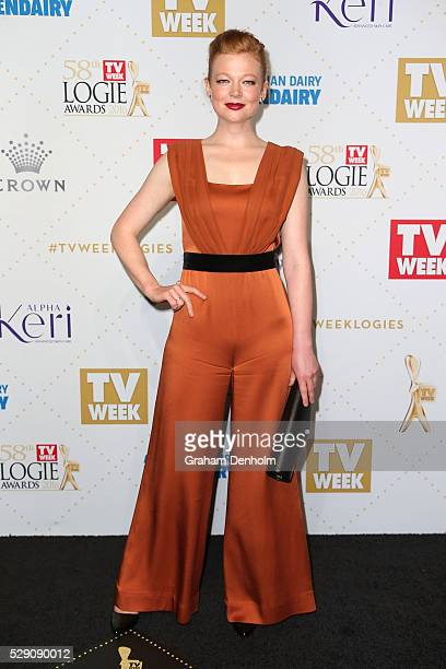 Sarah Snook arrives at the 58th Annual Logie Awards at Crown Palladium on May 8 2016 in Melbourne Australia