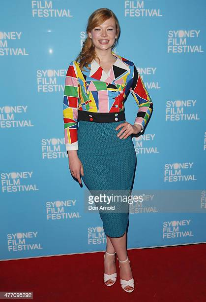 Sarah Snook arrives at the 'Holding The Man' World Premiere during the Sydney Film Festival Closing Night Gala at the State Theatre on June 13 2015...