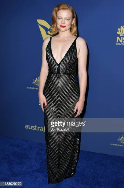 Sarah Snook attends the 2019 Australians In Film Awards at InterContinental Los Angeles Century City on October 23 2019 in Los Angeles California
