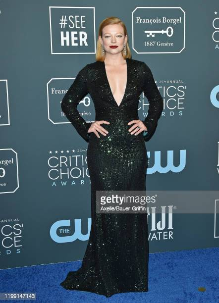 Sarah Snook attends the 25th Annual Critics' Choice Awards at Barker Hangar on January 12 2020 in Santa Monica California